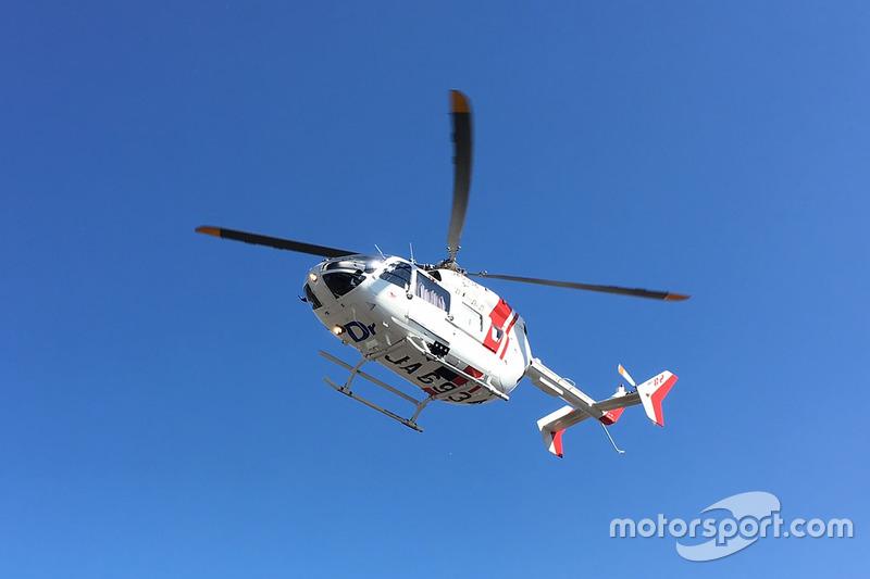 Хорхе Лоренсо, Yamaha Factory Racing, транспортування в лікарню після аварії
