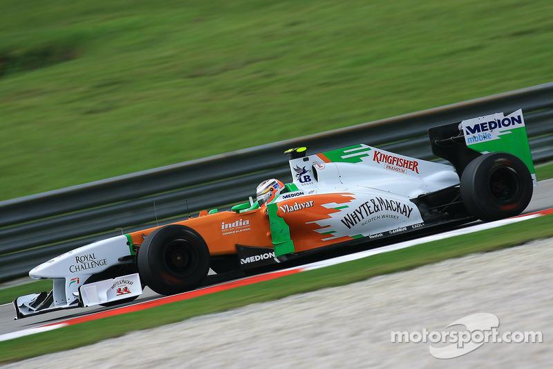 2011: Force India VJM04 (три шестых места, 6-е место в КК)