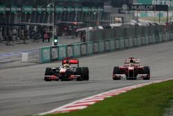 Lewis Hamilton, McLaren Mercedes e Fernando Alonso, Scuderia Ferrari