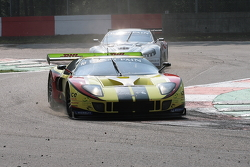 In a very sandy Villeneuve Chicane; #10 Belgian Racing Ford GT Matech: Milos Pavlovic, Martin Matzke