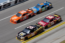 Jeff Burton, Richard Childress Racing Chevrolet, Clint Bowyer, Richard Childress Racing Chevrolet, Joey Logano, Joe Gibbs Racing Toyota, Kyle Busch, Joe Gibbs Racing Toyota
