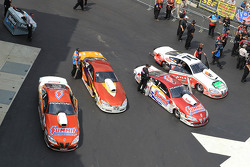 Pro Stock cars awaiting qualifying