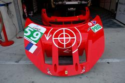Front nose of the #59 Luxury Racing Ferrari 458 Italia