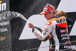 Подіум: переможець гонки Дані Педроса