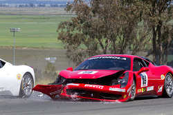 Start: #9 Ferrari of Beverly Hills Ferrari 458 Challenge: Jay Lee after his crash