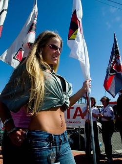 Lovely flag girl