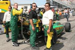Team Australia team members get ready for the race