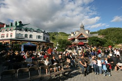 Fans watch live entertainment in Mont-Tremblant