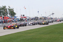 The start: Sébastien Bourdais takes the lead