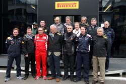 Marco Tronchetti Provera President of Pirelli, with the team bosses