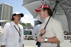 Dan Clarke with the Premier of Queensland Anna Bligh