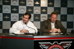 Indianapolis Motor Speedway President and COO Joie Chitwood, left, and Indy Racing League President and COO Brian Barnhart