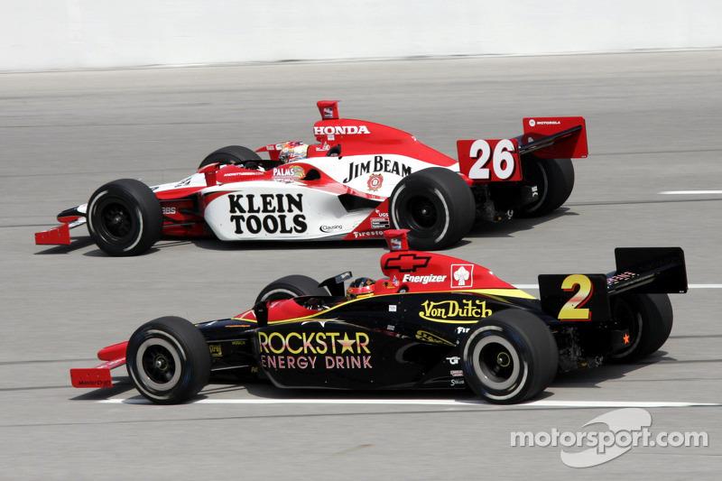 Dan Wheldon and Tomas Enge