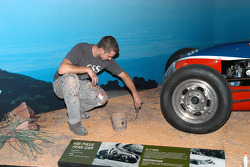 Finishing touches on the Pikes Peak full-scale road display