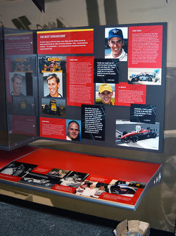 Fourth generation exhibit in Indy 500 room featuring Johnny and Robby Unser, Al Unser III and Jason Tanner