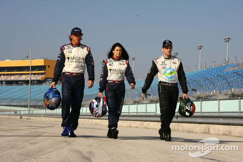 Buddy Rice, Danica Patrick y Paul Dana