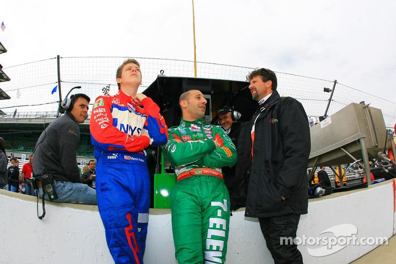 Marco Andretti, Tony Kanaan et Michael Andretti