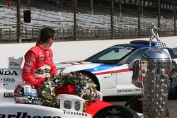 Sam Hornish Jr. admires his new Corvette pace car
