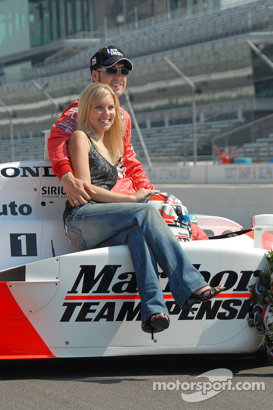 Sam Hornish jr. Avec sa femme Crystal