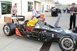 Townsend Bell's car is ready for side pods and engine coverings