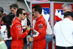 Pole winner Helio Castroneves with Sam Hornish Jr.