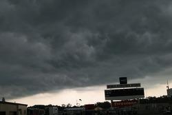 Menacing clouds over Michigan International Speedway