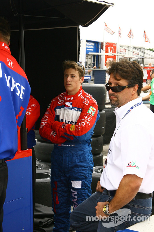 Marco Andretti avec son père Michael
