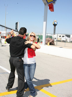 Helio Castroneves with Dancing with the Stars partner Julianne Hough