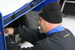 Super Aguri Panther Racing crew member at work