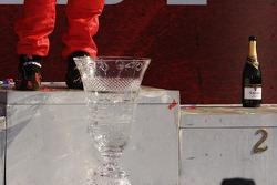 Podium: the winning trophy