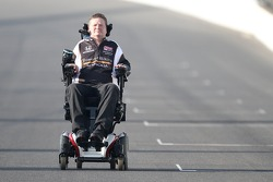 Sam Schmidt heads down the frontstretch to the front row photoshoot