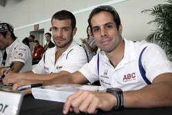 EJ Viso and Vitor Meira sign autographs