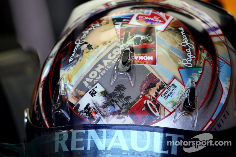 El casco de diseño para Mónaco de Sebastian Vettel, Red Bull Racing