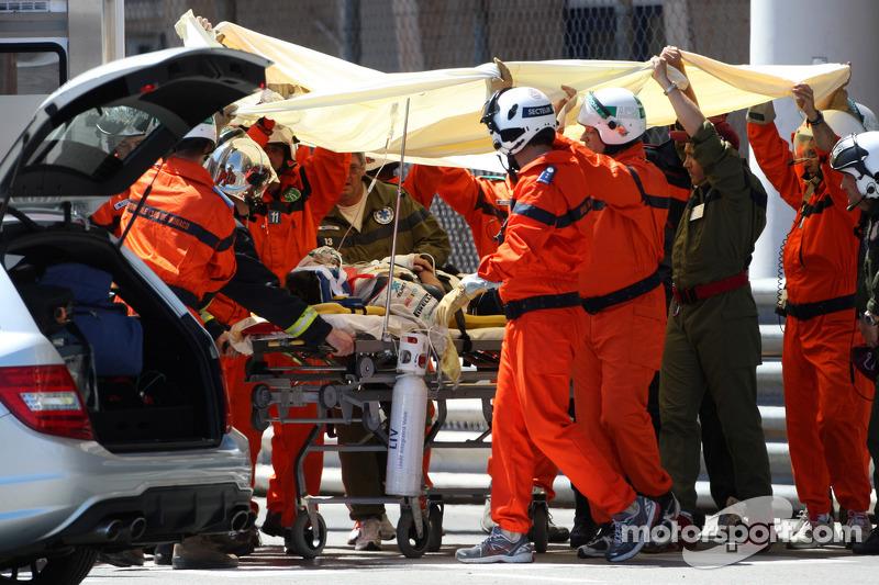 El fuerte accidente, GP de Mónaco 2011