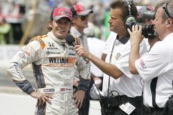 Dan Wheldon, Bryan Herta Autosport with Curb/Agajanian celebrates