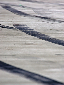 Skid Marks in the pit lane