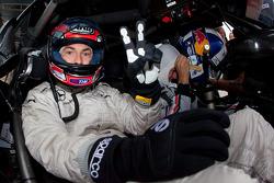 Nicky Hayden, Ducati Team, tries the AMG Mercedes C-Klasse with David Coulthard, Mücke Motorsport