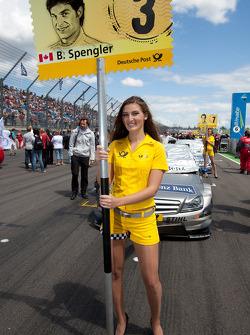 Grid girl for Bruno Spengler, Team HWA AMG Mercedes