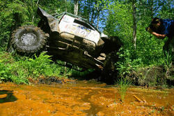 TR3 class winner Roman Briskindov inching through a bog