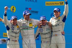 Podium: 1. Marc Lieb, Lucas Luhr, Romain Dumas, Timo Bernhard