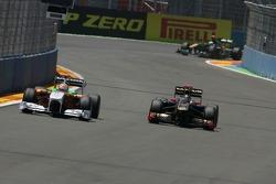Adrian Sutil, Force India F1 Team and Nick Heidfeld, Lotus Renault GP