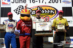 Robbie Buhl, Firehawk, Buddy Lazier and Sam Hornish Jr.