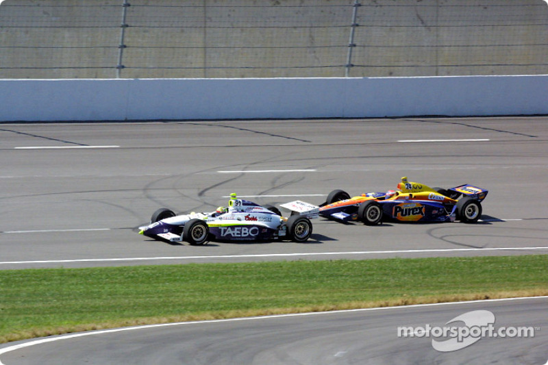 Buddy Lazier and Robbie Buhl