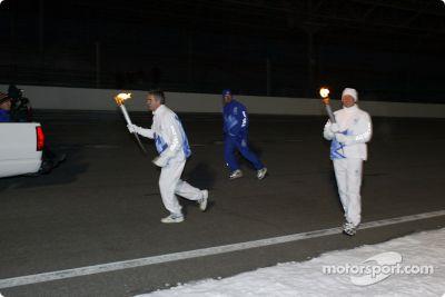 La cérémonie de la torche olympique