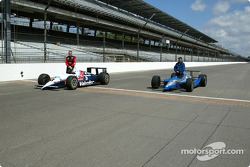 Al Unser Jr. and Scott Goodyear who were involved in the closest finish ever at the Indy 500 in 1998