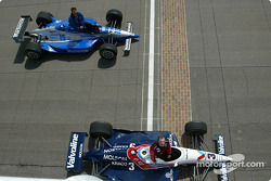 Al Unser Jr. and Scott Goodyear who were involved in the closest finish ever at the Indy 500 in 2003