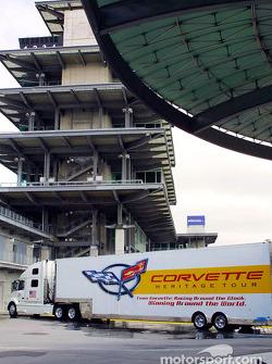 The Corvette Heritage Tour transporter