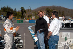 Roger Yasukawa, Greg Ray and Michael Andretti