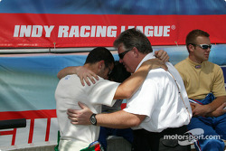 The Indy Racing League Chaplain with drivers