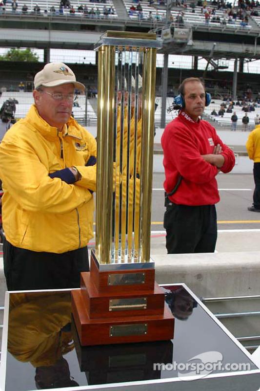 Le trophée MBNA de la pole